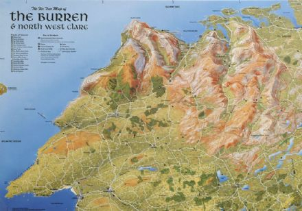 Aerial Map of the Burren & North West Clare - Flat
